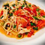 2nd time eating here!! Amazing again! Capellini w crab meat peas and blush sauce... Chicken bria