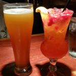 the absolutely absolut strawberry lemonade and a beer