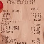 Dieci euro a bibita