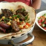 The BEST Kebabs! with side salad