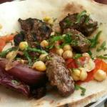 Close up of the kebabs