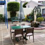 the courtyard at villa isis