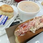Danielle's lobster chowder and lobster roll