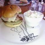 Chicken cordon burger lunch at Sheffield's Restaurant