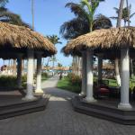 Visão do lobby para a praia