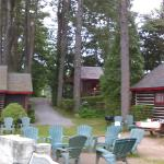Looking from the beach to the Oaks cabin (in the back)