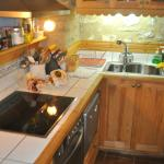 The nice extensive kitchen.