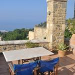 The roof top terrace with views to the sea.