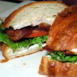 Our BLT (Bacon, Lettuce, Tomato) on scratch-made Croissant