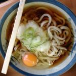 Udon at the nearby udon stand in the train station