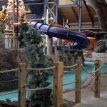 lazy river with kids slides up above