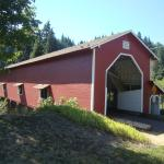 famous covered bridge just outside