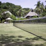 Natural grass tennis court and croquet court