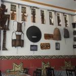 The walls of the Dak Bla Restaurant...