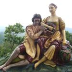 The Statueof Magnolia and the local shepherd
