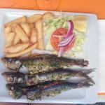 stegte friske sardiner