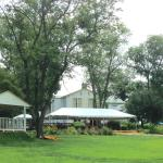 Back of inn has spacious lawns for simple relaxation and play