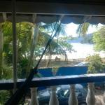 Vista da varanda com rede