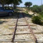 LA ferrovia storica (interrotta) all'interno della proprietà