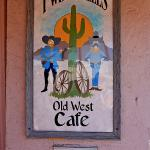 Twin Wheels Café, The front sign