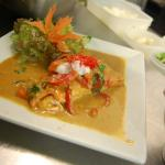 Loch Duart Salmon Fillet with a sweet red curry sauce