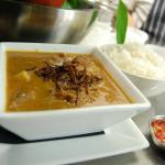 Slow cooked Topside of Beef in a Massaman curry