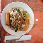 Pad Thai seafood lunch.