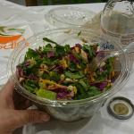 Thai chicken salad with arugula