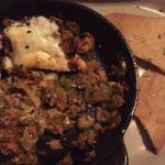 Okra, Tomato, Egg Casserole