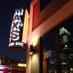 The MAX's Wine Dive Austin sign at night!