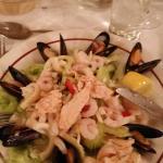Starter: Seafood Salad, a big starter for a big appetite