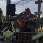Lipbone plays on Pebble Beach at Backwater Jacks
