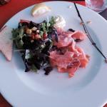 Entrée saumon à La Romantica