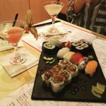 Sushi and cocktails