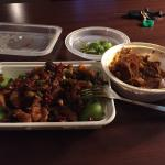 Delicious ox tongue w tripe and spicy rabbit with baby bok choy