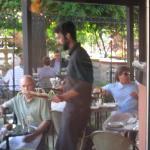 The terrace dining area