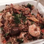 This was my first time at this restaurant and just ordered the fried rice.  It was very good, th