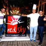 Stefan and Sebastien posing with Chef Ben