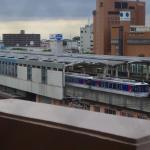 客室から見た鳥取駅