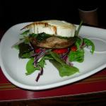 Portabello mushroom with goat's cheese