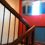 Entry to the room, stair case