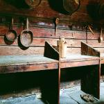 The booths with tools in the old fire-house/cook house in Schøtstuene
