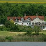 View of the pub from the lake
