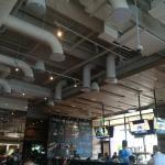 High ceiling. Very noisy.
