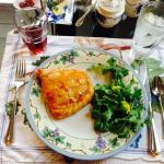 The main course at breakfast was a treat:  Cindy's version of Croque Monsieur - Rich and wonderf