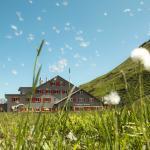 Das Bärghuis Jochpass im Sommer