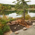 The Lodge on Echo Lake Lower Deck Wedding Ceremony Location