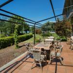 Terra de la Cafetería y jardín del Hotel Balneario
