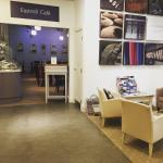 Take a stroll through the adjoining woollen mill visitor centre and shop before reaching the cof