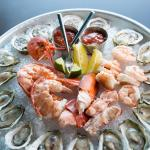 A bounty of fresh seafood at Chair 5, Narragansett RI restaurant.